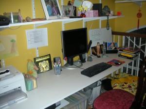PJ Hoover\'s desk